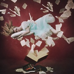 Inspired (Von Wong) Tags: book pages sleep floating levitation brooke shaden