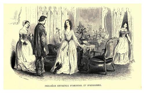 008-Primera entrevista de Agricol y Adriana-Le juif errant 1845- Eugene Sue-ilustraciones de Paul Gavarni