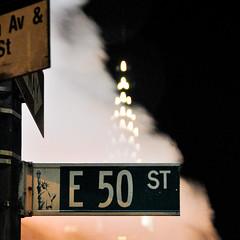 E 50 st (shaymurphy) Tags: street new york city nyc sky usa building night america buildings lights amrica nikon skyscrapers east chrysler 50th amerika stad scraper  d300     lamerica lamrique