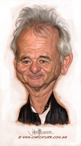 digital caricature of Bill Murray - 2
