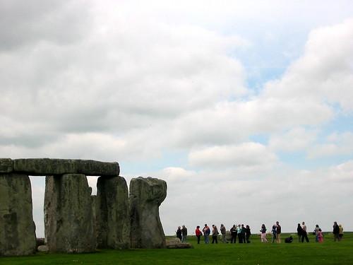 Stonehenge and tourists