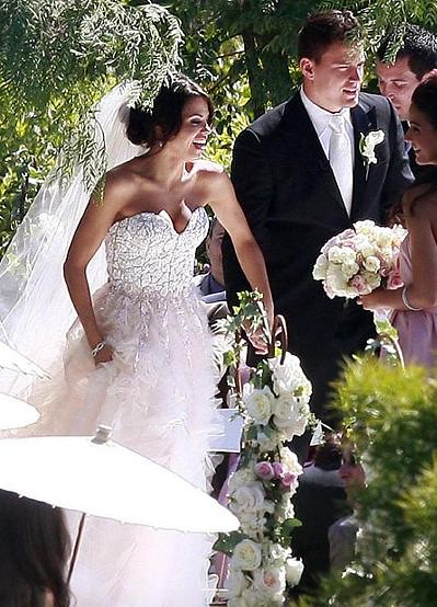 Jenna-Dewan-Reem Acra wedding-dress