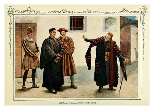 009-Shylock Antonio Salarino y Gaoler-Shakespeare's comedy of the Merchant of Venice 1914- James D. Linton