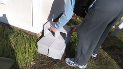 Create the platform for the rain barrel