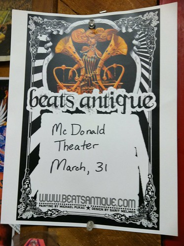 Beats Antique poster in Eugene