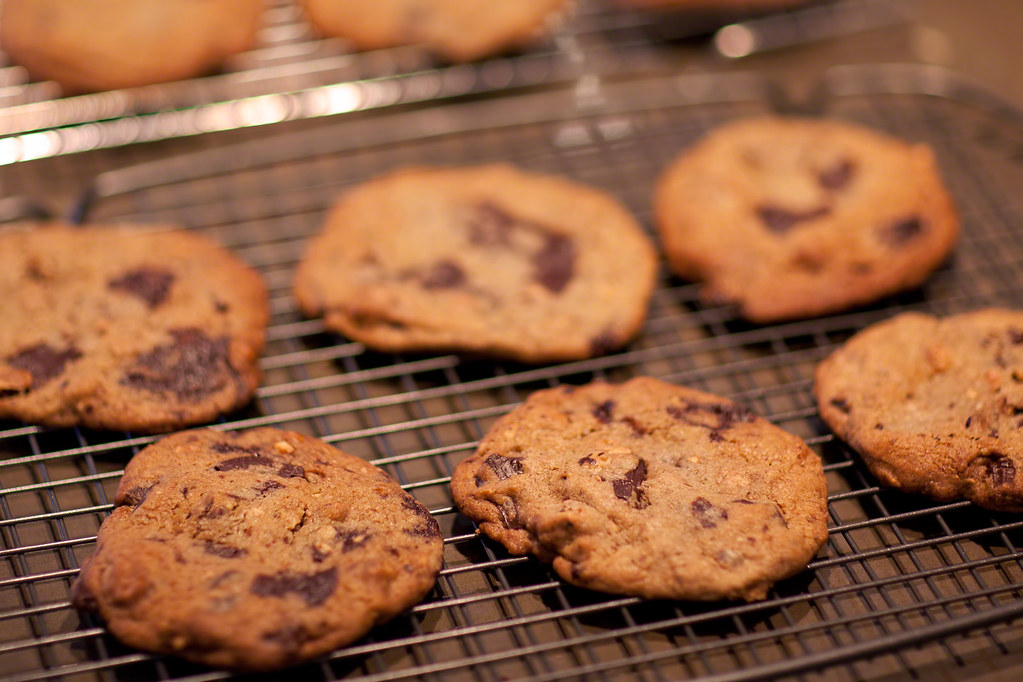 Chocolate Chip Cookies with Hazelnuts