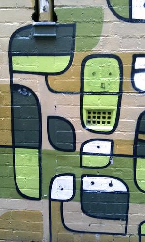 Street art graffiti around Melbourne's alleyways