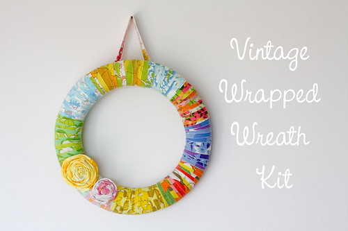 Vintage Sheet Wrapped Wreath Kits! by jenib320