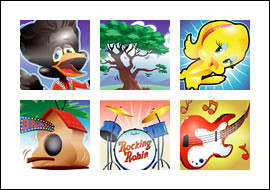 free Rocking Robin slot game symbols