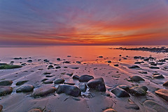 Harlech  seascape 1 (Carl-B Landscape photography) Tags: sunset seascape wales clouds nikon rocks wideangle d200 snowdonia harlech sigma1020mm leefilters hitechfilters