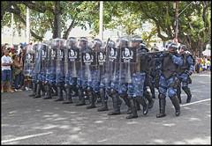 Guarda municipal Salvador GOE (wilphid) Tags: salvador bahia brsil brasil 7desetembro ftenationale arme dfil militaires soldats rue