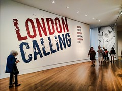 London Calling (Thad Zajdowicz) Tags: londoncalling gettymuseum losangeles california art gallery sign museum people letters words text writing type zajdowicz 365 366 cellphone photoshopexpress availablelight candid unposed motorola droid turbo indoor inside smartphone cameraphone android mobile angle perspective exhibition