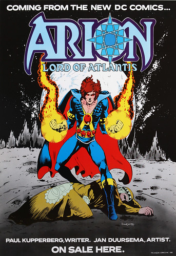 DC Comics promotional poster - Arion Lord of Atlantis - 1982