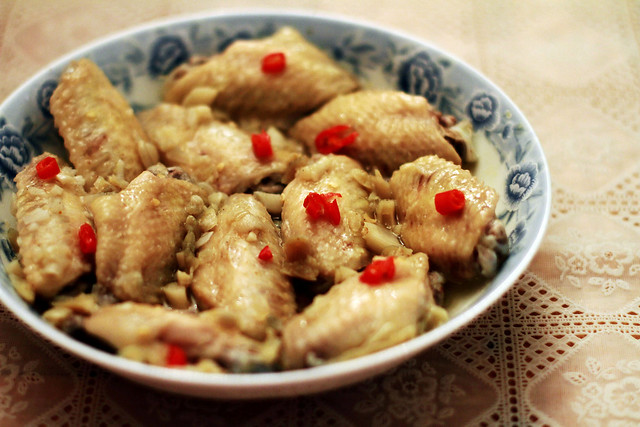 Steamed Chicken Wings