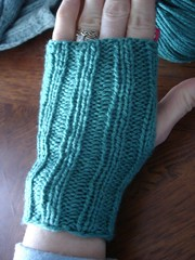 Knit mitt done