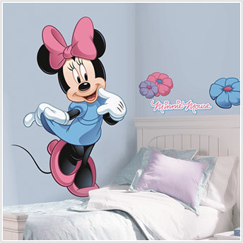 giant minnie kids decals