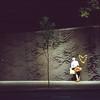 Wonderwall (dave.carswell) Tags: street man 120 6x6 film fountain leaves wall night mediumformat flooding shot heart candid australia melbourne slide victoria 1600 citysquare climatechange collinsst treee pentaconsix pushedtwostops fujichromeprovia400xrxp johnmockridgefountain melbcompjan2011