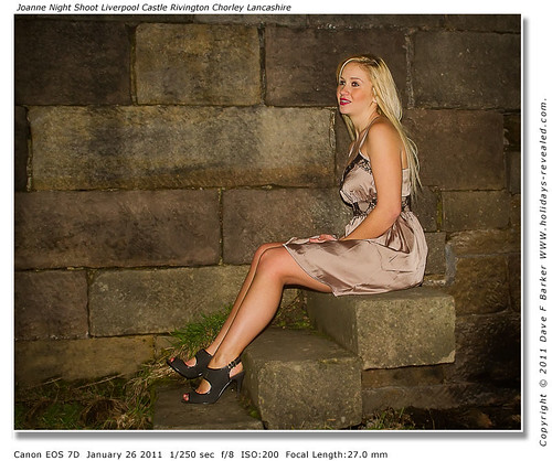 Joanne Night Shoot At Liverpool Castle Rivington Chorley Lancashire