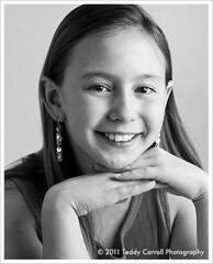 Anna Headshot (Teddy Carroll Photography) Tags: portrait white black nikon child headshot d300 strobist sb900