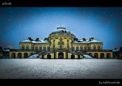 solitude (Tafelzwerk) Tags: schnee snow castle night germany dark deutschland nikon solitude stuttgart nacht schloss dri hdr dunkel hdri dunkelheit schlosssolitude d3000 nikond3000 tafelzwerk tafelzwerkde
