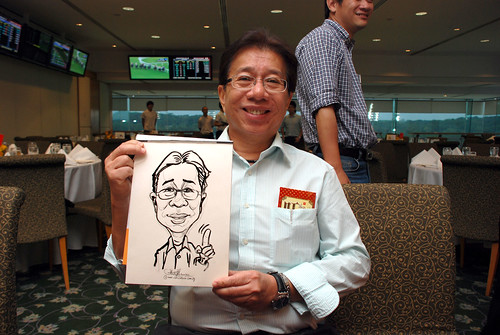 caricature live sketching for Thorn Business Associates Appreciate Night 2011 - 5