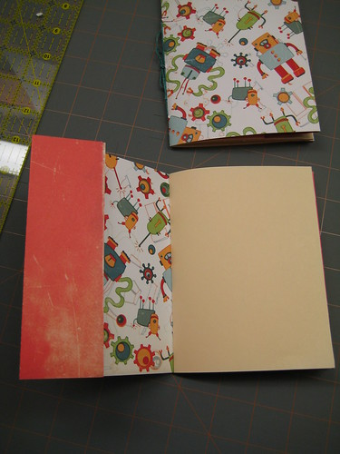 Two pamphlet-stich notebooks