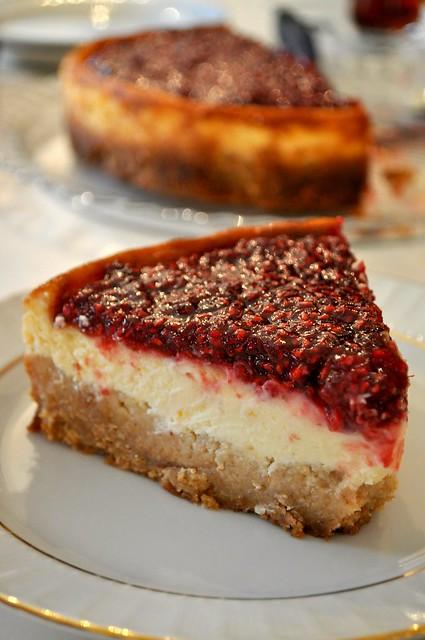 böğürtlenli cheesecake