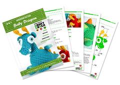 ★ Baby Dragon (★kraftcroch★) Tags: baby color lana wool toy diy soft pattern dragon handmade crochet craft bebé amigurumi patron juguete artesania snapdragon croche ganchillo