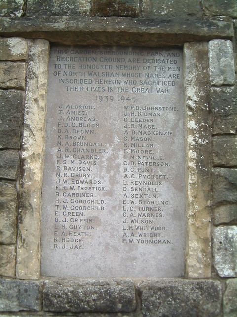 North Walsham - WW2 Roll of Honour