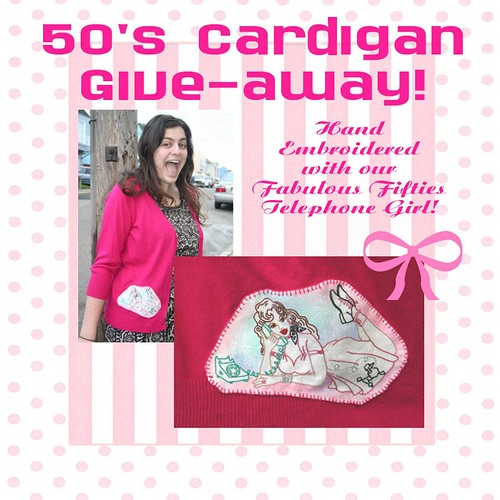 50's Cardigan Giveaway!
