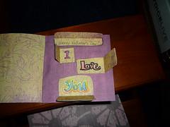 Valentine card interior open