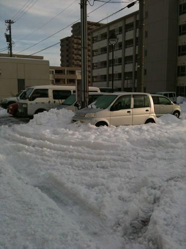 2.2の団地の駐車場