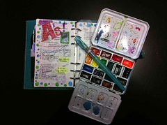 In Process (jadecat23) Tags: organizer watercolors filofax diyplanner calendarart