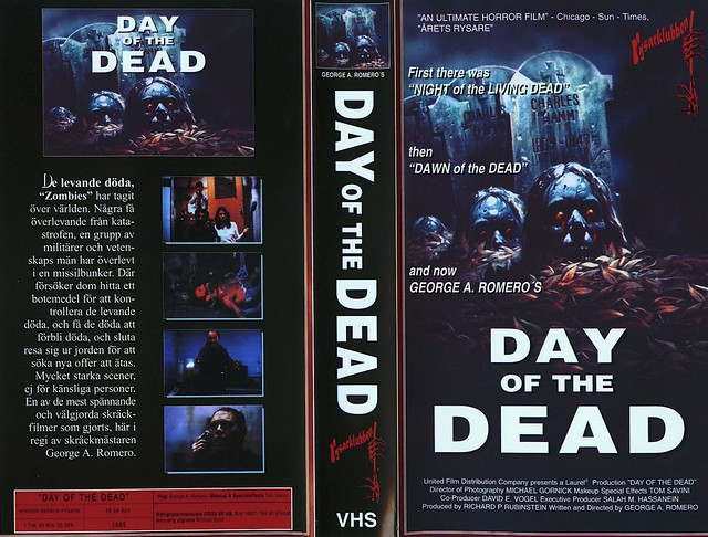 Day Of The Dead (third cover) (VHS Box Art)