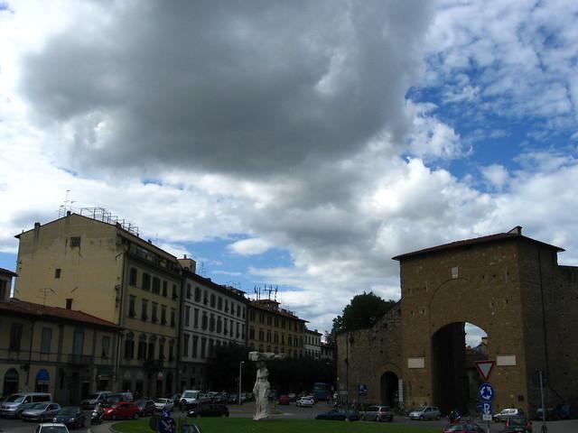 フィレンツェの広場のフリー写真素材