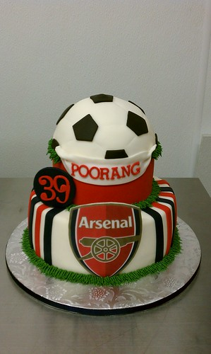 Arsenal Soccer Fan Birthday Cake