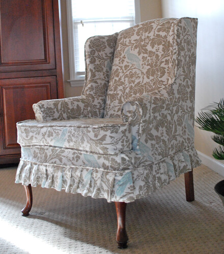 linen slipcovers for recliner image wing slipcover wingback of target cover pattern chair back