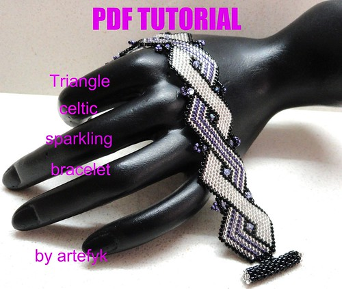 beaded bracelet tutorial. Sparkling eaded Bracelet