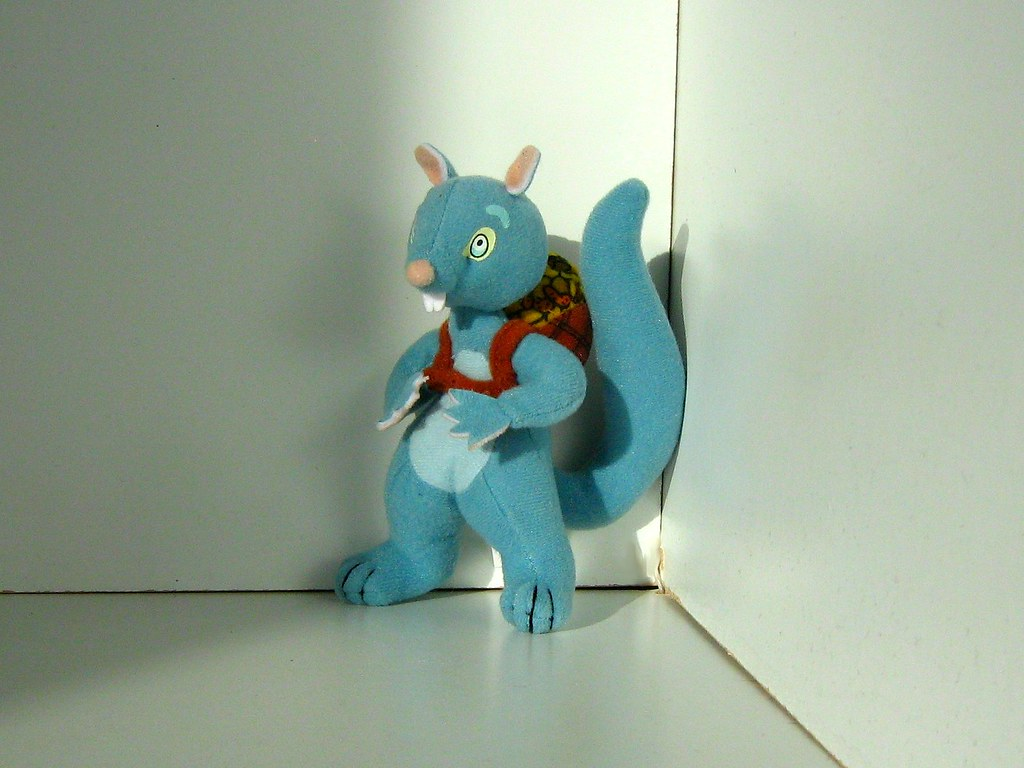 McDonald's Promotional Soft Toy - Bill and Ben: Blue Squirrel