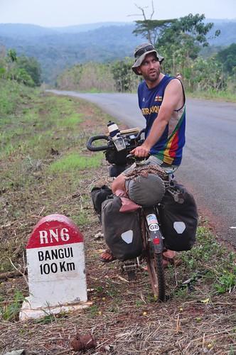 100km to Bangui