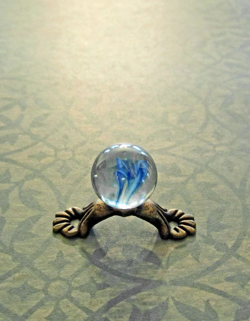 Is a Spirit Being Conjured Up in This Clear Crystal Ball with the Blue Formation Inside? ~ Ideal for All Scales