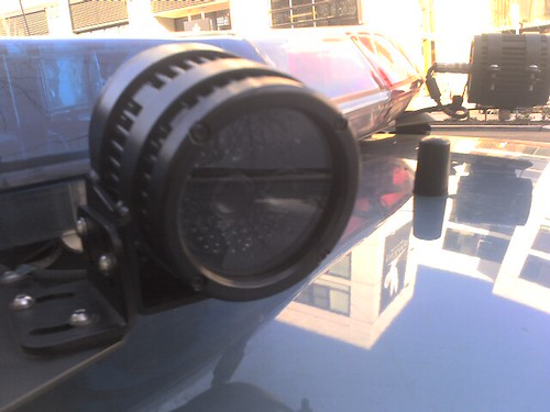 image closeup of camera on police car roof