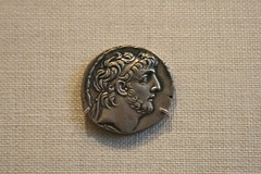 Silver tetradrachm of Antiochos: (BrassIvyDesigns) Tags: man archaeology silver greek coin ancient artifact athena metropolitanmuseum metropolitanmuseumofart antiochos tetradrachm