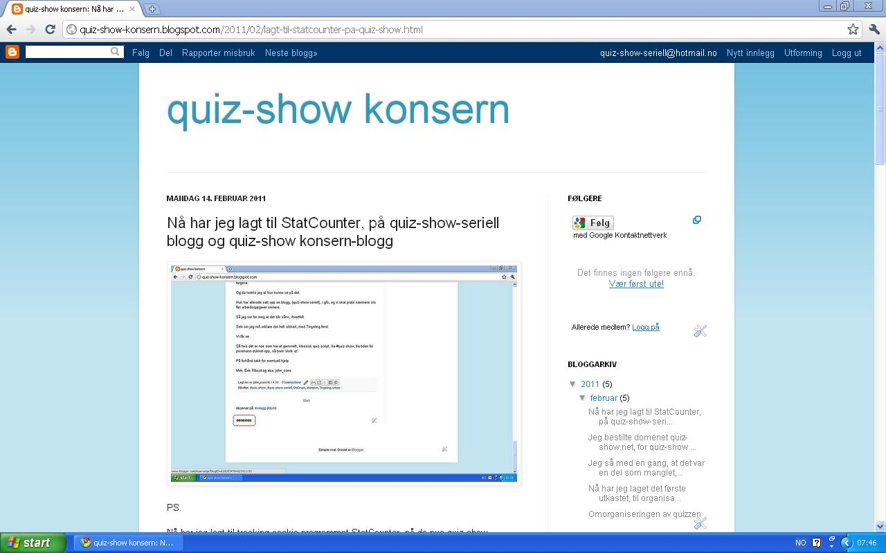 oppdatert mer om hva jeg jobber med for tiden av quiz-show arbeidsoppgaver