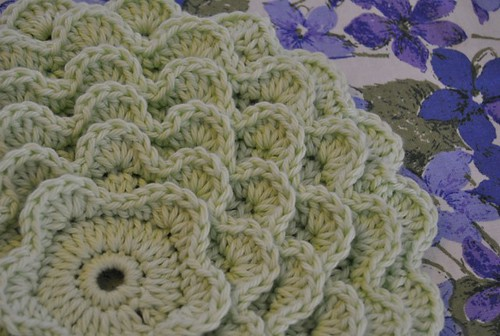pretty petals potholder