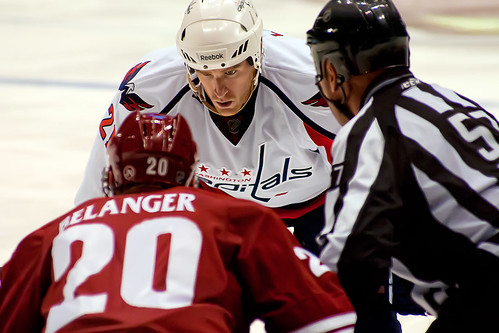 Laich and Belanger About to Faceoff by clydeorama, on Flickr