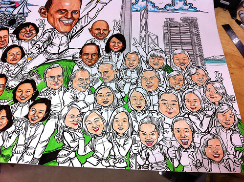 Group caricatures for UBS - 11