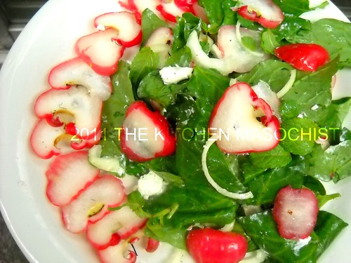 rose apple spinach salad
