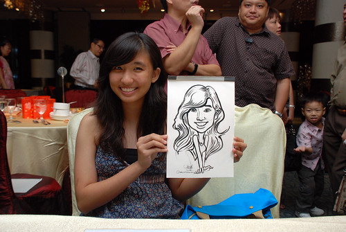 caricature live sketching for OCBC Securities - 7