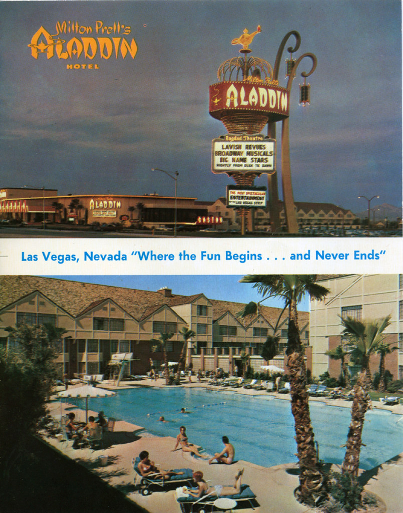 Aladdin Las Vegas 1960s postcard